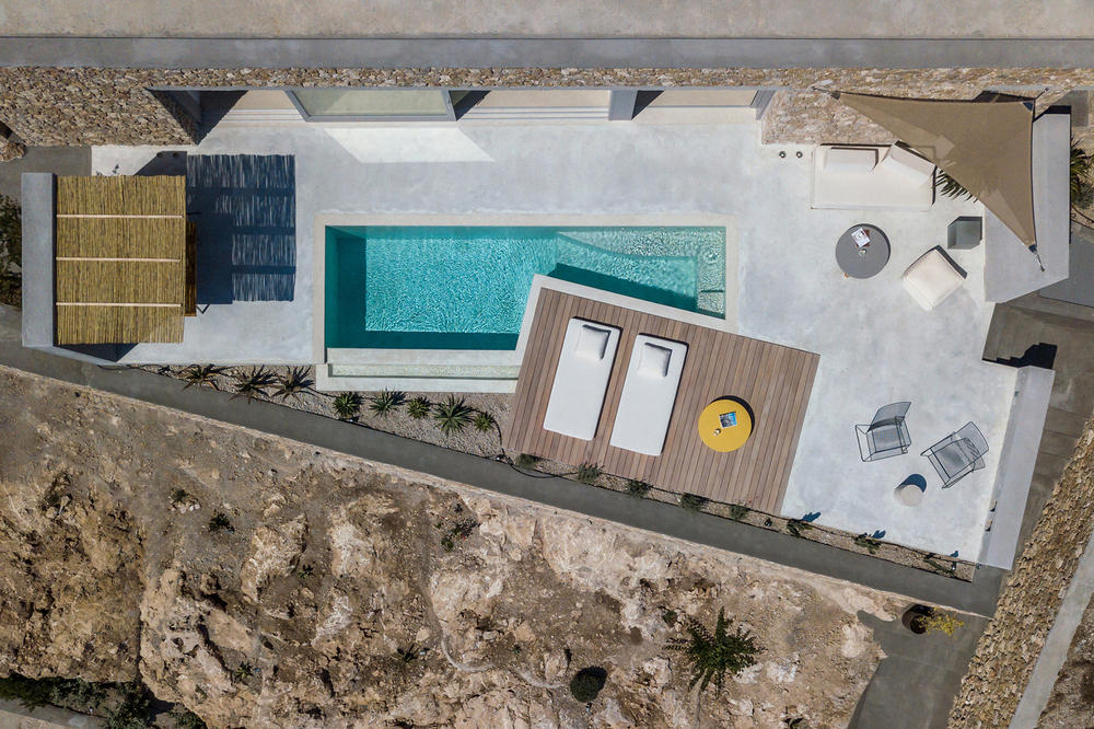 Holiday House Kapsimalis Architects Thera Greece Architecture Homes Houses Modern Interior Exterior Bedrooms Swimming Pool Prophet Ilias Mountain Landscape Views Design Santorini