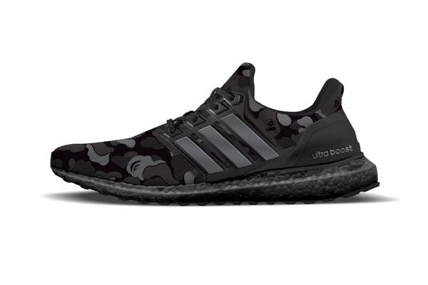 BAPE x adidas UltraBOOST Camo Black d57a5777c9