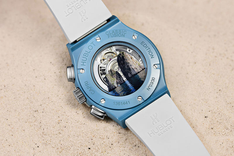 Hublot Capri Classic Fusion Chronograph Luxury Watches Time Piece Wristwatch Italy Travel Mechanical Swiss Watch Bay of Naples Blue Grotto