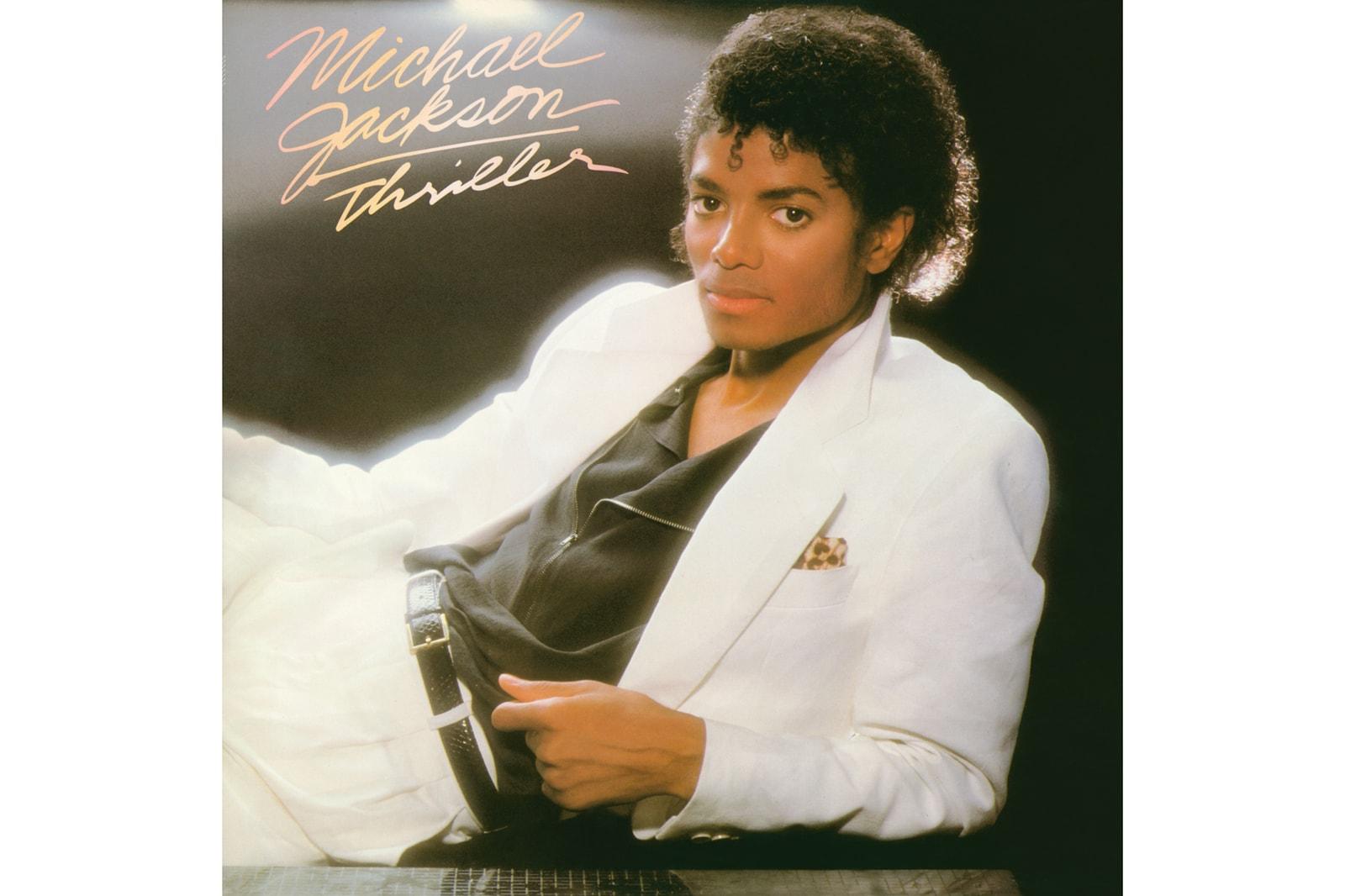 Michael Jackson BOSS Hugo Boss Fall 2018 Capsule Collection suit white t shirt tee king of pop thriller album MJ dance post tee on the wall art print BOSSxMichaelJackson