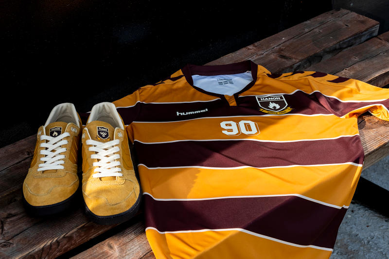 """hummel x HANON """"Standing Only"""" Marathona OG HB Team Super Trimm Rothes FC Forres Mechanics Huntly 2018 Collection Collaboration Collab Cop Purchase Buy Kicks Sneakers Trainers Shoes Jerseys Shirts"""