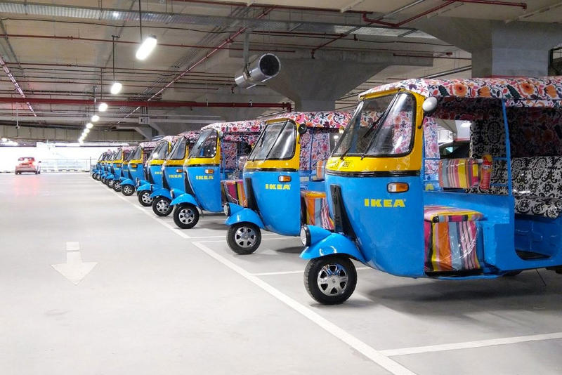 Ikea India Solar Power electric Rickshaw Delivery furniture store 2018