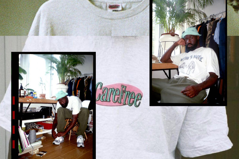 Introducing Damian Malontie CareFree Patta Gimme5 Interview New Brand Label Designer T-shirt Blog