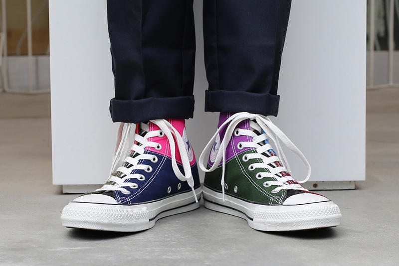 c7cb72a92abf JAM HOME MADE Converse Chuck Taylor Birthstone collaboration all star japan  100 high top color patchwork