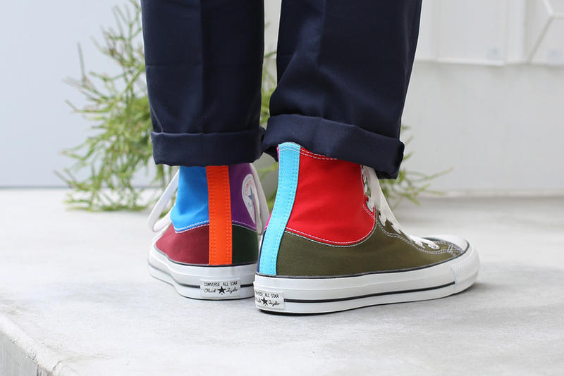 JAM HOME MADE Converse Chuck Taylor Birthstone collaboration all star japan 100 high top color patchwork exclusive october 2018 release date buy purchase sale sell drop info on foot