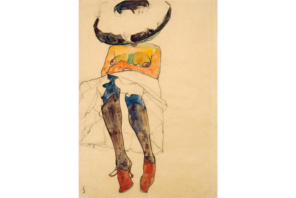 fondation louis vuitton jean michel basquiat egon schiele retrospective exhibitions shows art artworks paintings