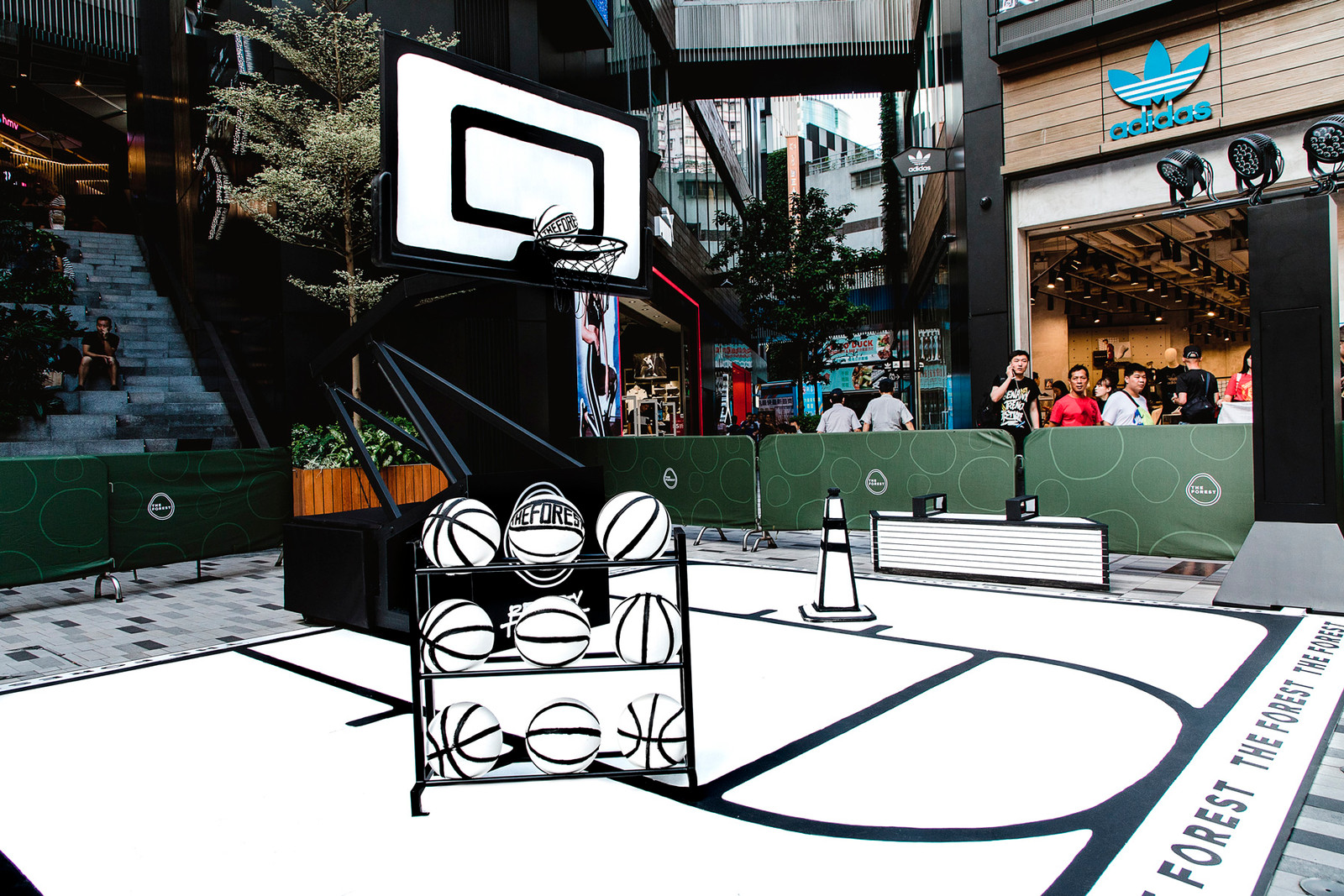 Joshua Vides Artist art Streewear Hustle interview reality to idea the forest hong kong china basketball court sneaker nike air force 1 jordan lebron james black and white outline cones cone mong kok