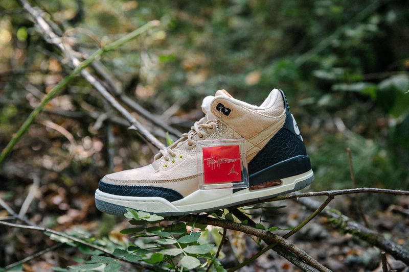 "Justin Timberlake Air Jordan 3 JTH ""Bio Beige"" Inspiration Shoes Trainers Sneakers Kicks Footwear Higher Higher Man of the Woods Album Song Premium Materials Artisan Lyrics Fame is a lie stress is cruel"