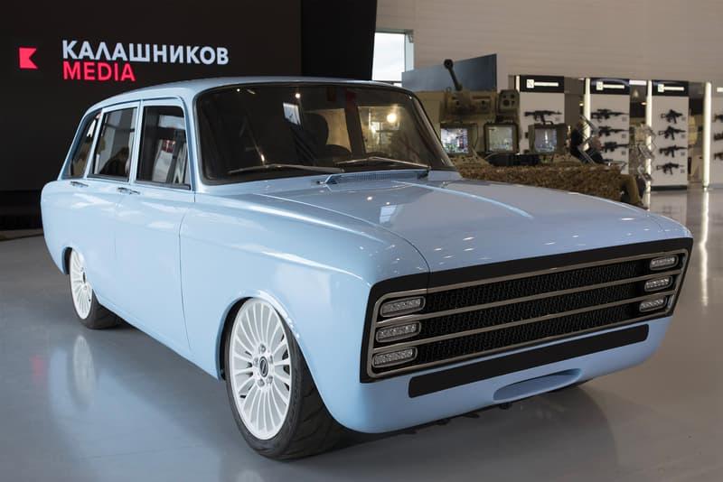 Kalashnikov Electric Supercar CV-1 Prototype Russian Blue IZh 2125 kombi concept vehicles