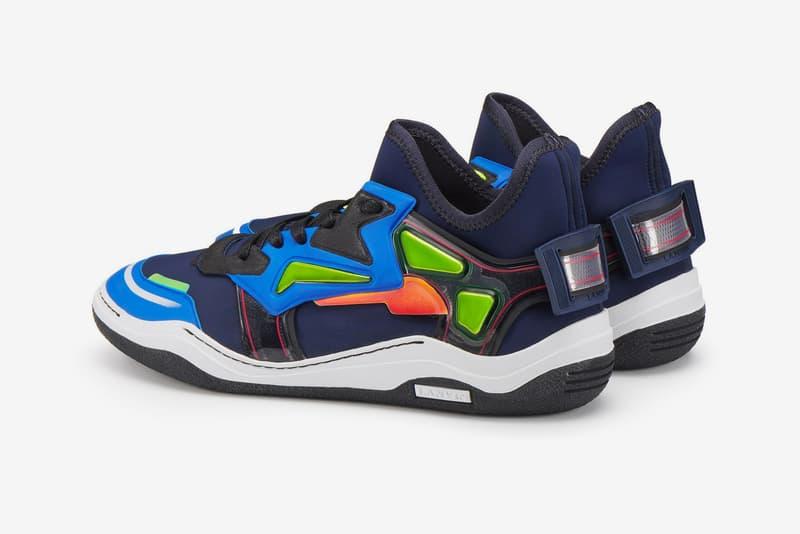 Lanvin Diving sneaker Dark Blue white Light Grey neoprene mid top new colorways pre order release date price info sneakers footwear trainer luxury