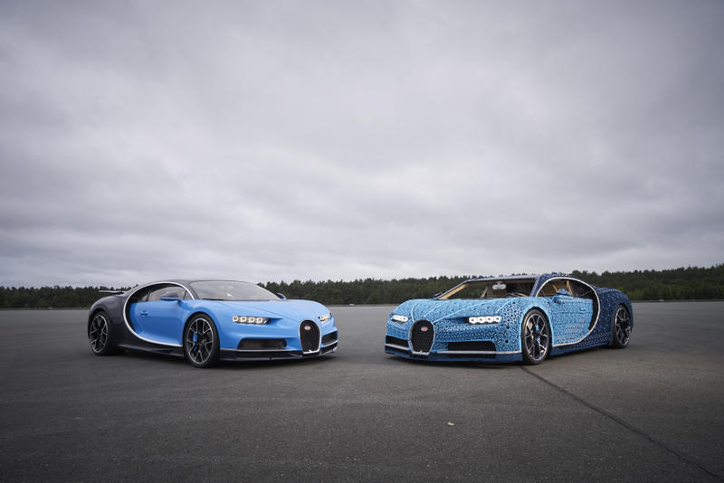 LEGO Technic Bugatti Chiron Life Size Model Blue Drivable