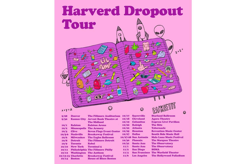 Lil Pump 'Harverd Dropout' Tour Dates albums gucci gang