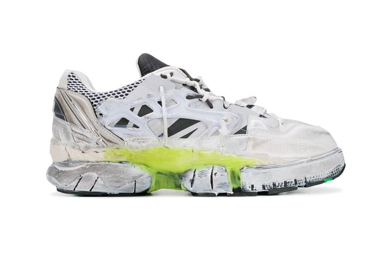 Maison Margiela Fusion Sneaker white yellow green release info john galliano