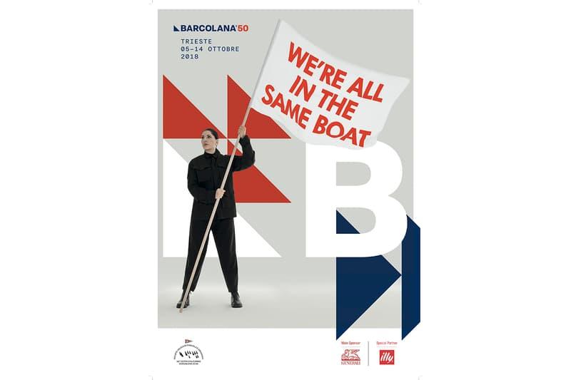 Marina Abramović Barcalona Regatta Poster Design Trieste Italy Paolo Polidori lega party