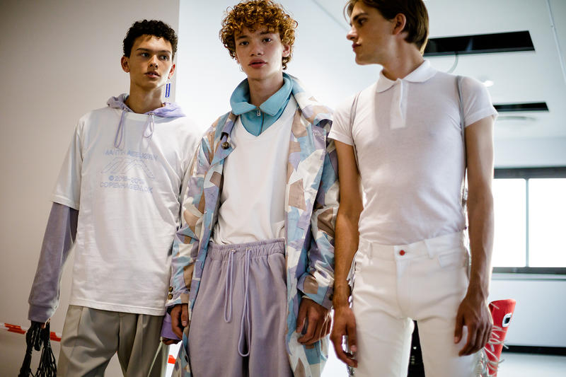 Martin Asbjørn Copenhagen Fashion Week Spring Summer 2019 collection backstage sportswear