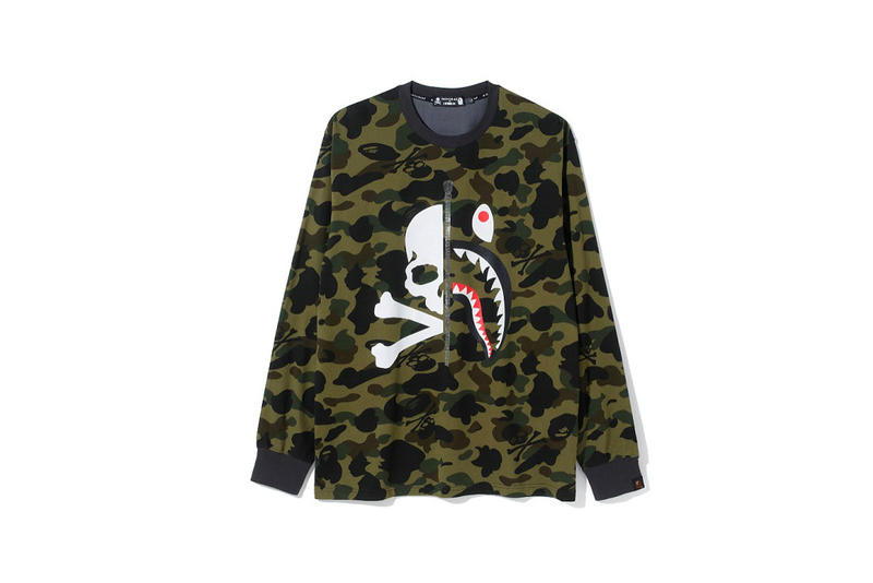 mastermind vs BAPE Collaboration Announcement Skulls Black Shark Jacket