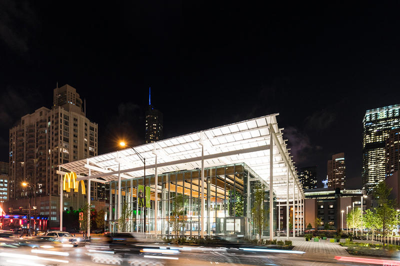 McDonald s New Chicago Flagship Location Ross Barney Architects LEED Leadership in Energy and Environmental Design West Randolph Street