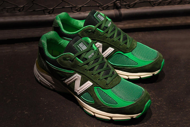 lower price with 7b120 f0b53 mita sneakers Sneakerwolf New Balance 990v4 bouncing frog green white  release info sneakers