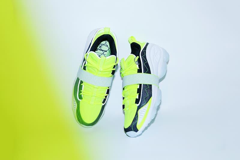 mita sneakers winiche co reebok dmx run-10 sneakers shoes collaboration neon white black