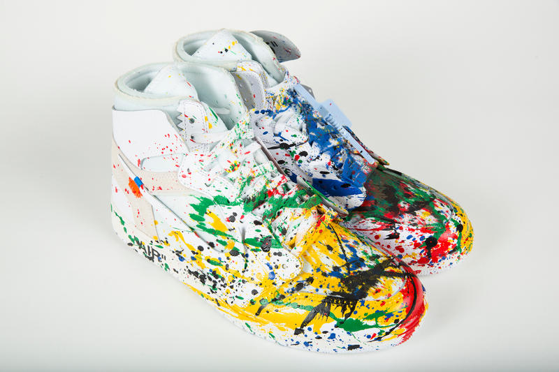 mr brainwash blitz dj am handpainted sneakers custom shoes