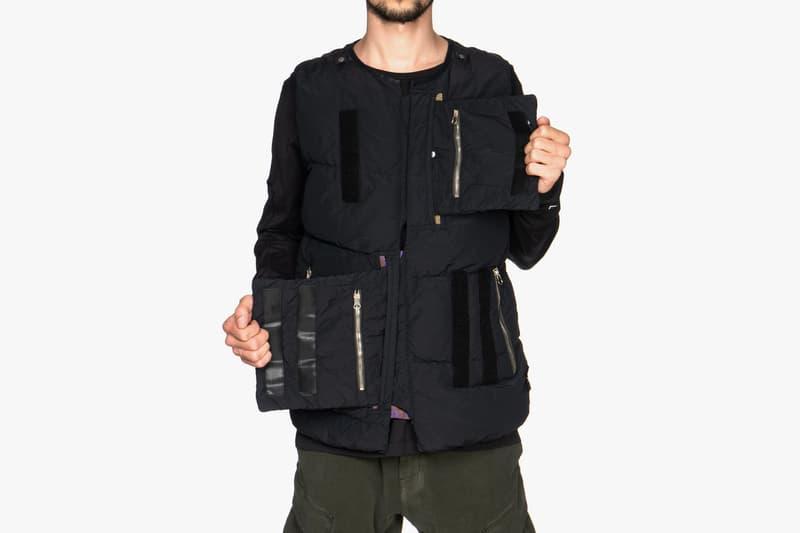 Naslan Light Garment Dyed Real Down Vest Jacket Grey Black Panels Fall Winter 2018 Errolson Hugh