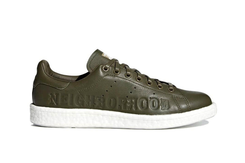NEIGHBORHOOD x adidas i-5923 Stan Smith Boost Sneaker Details Cop Purchase Buy Sneakers Kicks Trainers Shoes Footwear Kamanda Olive Green