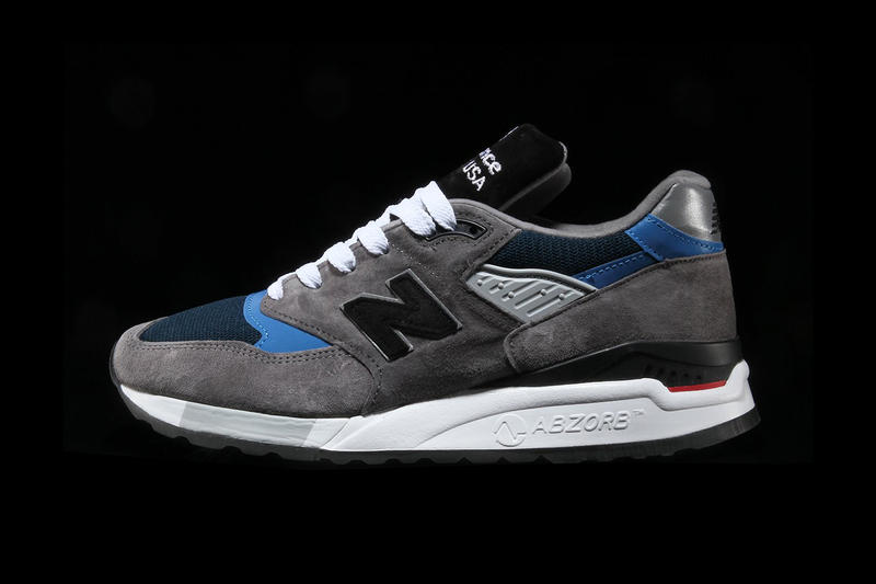 New Balance 998 Made in USA Shoe Details Cop Purchase Buy Trainers Footwear Sneakers America Grey Blue