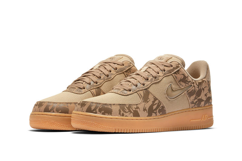 0abad2d7db9 Nike Air Force 1 Low Military Brown Hemp Team Orange country camo sneakers