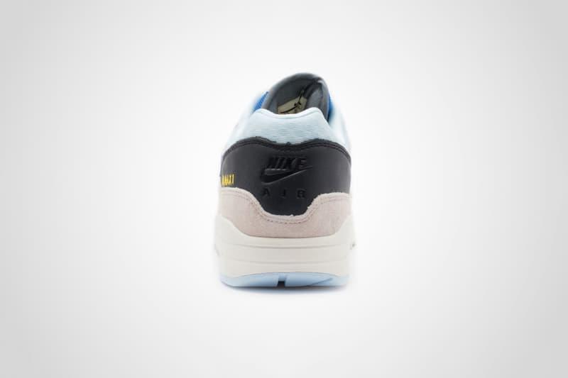 "Nike Air Max 1 ""Desert Sand/Royal Blue"" release date sneaker new logo swoosh"