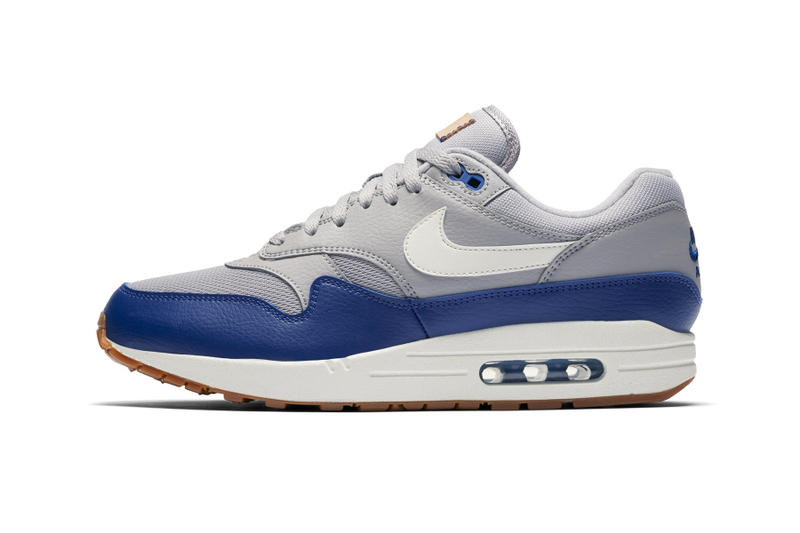"Nike Air Max 1 Leather ""Navy/Red"" & ""Grey/Blue"" sneaker colorway release date price info purchase"