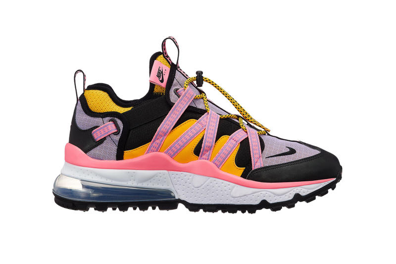 nike air max 270 bowden release details colorway information triple black orange stripe pink red drop buy purchase hiker runner trail