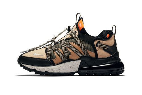 "Nike's Air Max 270 Bowfin Flexes in ""Black/Phantom Desert"""