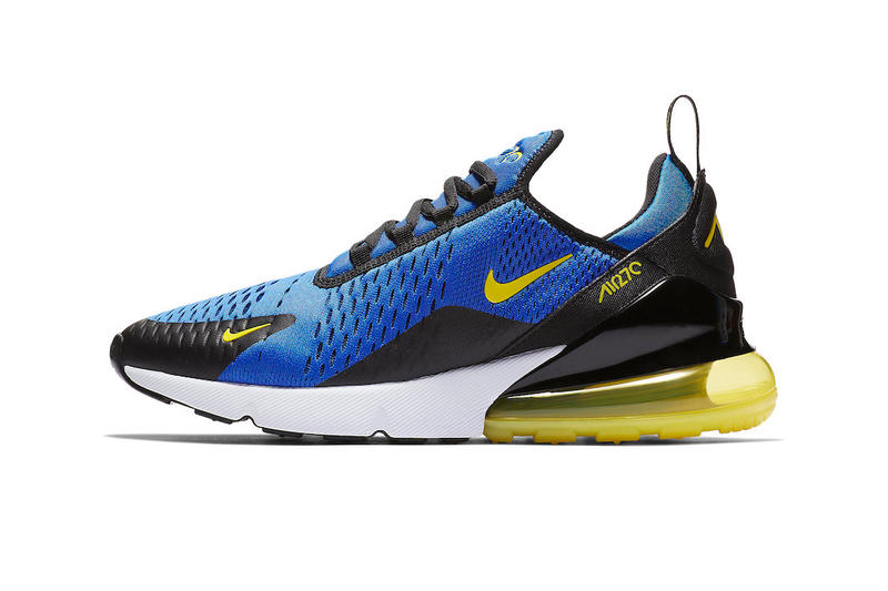 Nike Air Max 270 In Game Royal Dynamic Yellow Hypebeast