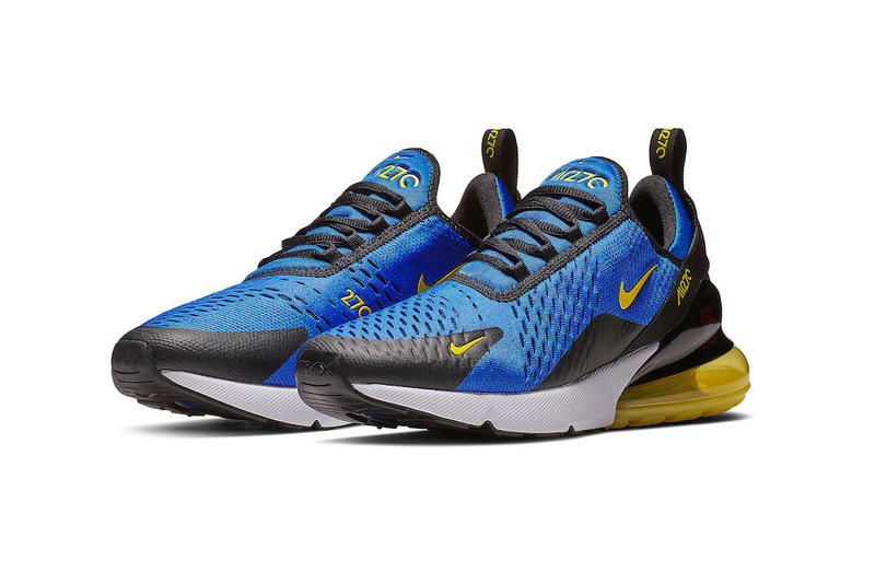 Nike Air Max 270 Game Royal Dynamic Yellow sneakers fall 2018 release