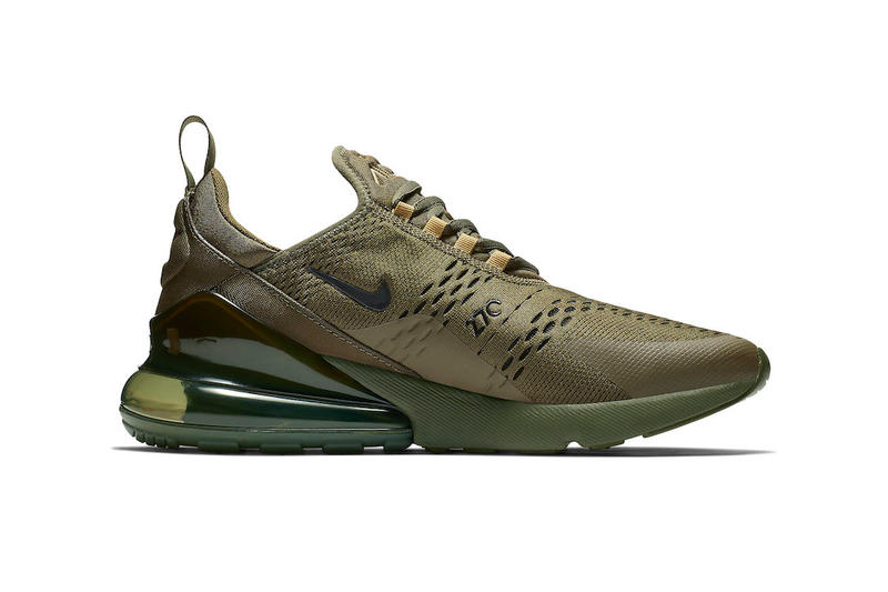 d900a3ddad40ad Nike Air Max 270 Triple Olive Release swoosh brown green