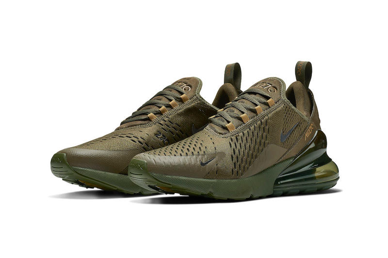 Nike Air Max 270 Triple Olive Release swoosh brown green d5e0c2332