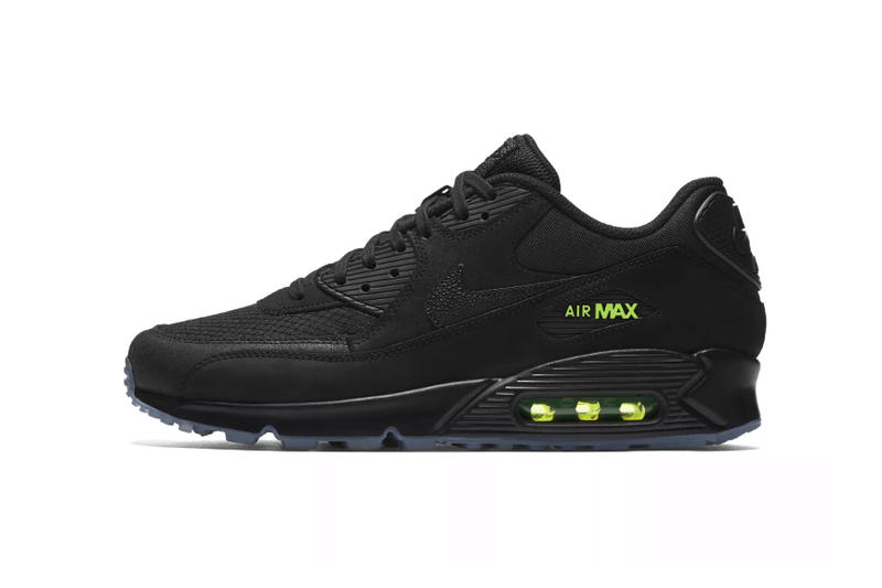 nike air max 90 night ops footwear sneakers shoes swoosh silhouette black volt tinker hatfield