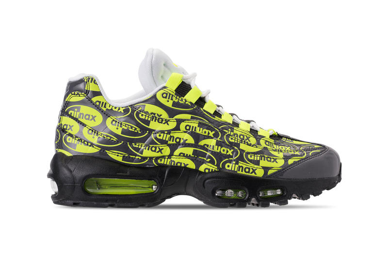 new styles 114e3 77e54 Nike Air Max 95 All over Logo Print volt premium colorway black drop  release date info