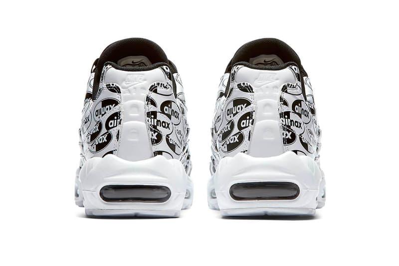 Nike Air Max 95 Premium All Over Logo White Release Black Info