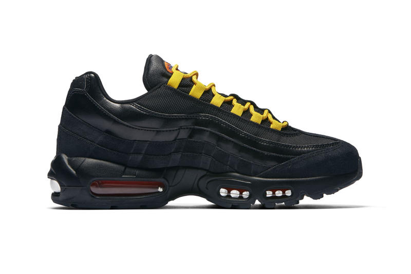 "Nike Air Max 95 Premium ""LA lakers/NY Knicks"" los angeles new york NBA team colors sneaker colorway mismatch release date info"