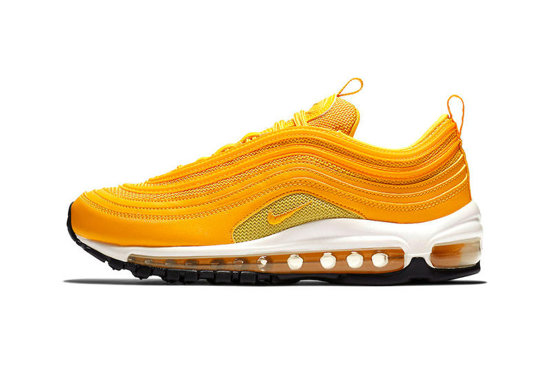 Nike Air Max 97 Mustard Release Tonal yellow swoosh ee1b64a9a