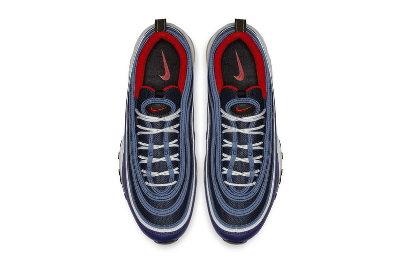 Nike Air Max 97 Midnight Navy Habanero Red Release info sneaker colorway  date price navy red 43279725e