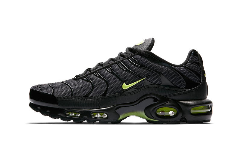 first rate 1b697 d8ef2 nike air max plus night ops black volt glow wolf grey 2018 footwear nike  sportswear