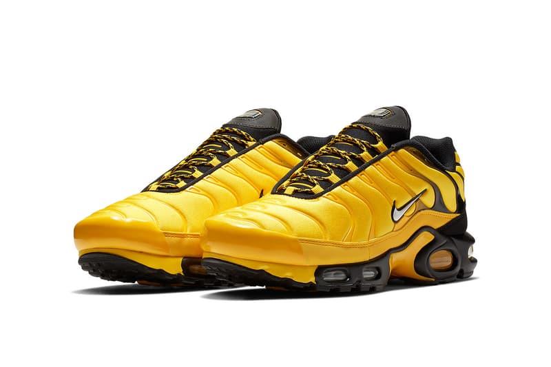 nike air max plus black white tour yellow 2018 nike sportswear