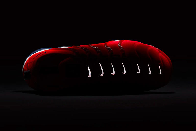 new product 49411 95918 Nike Air VaporMax Plus Bold Red 3M Reflective Swoosh Grey Black