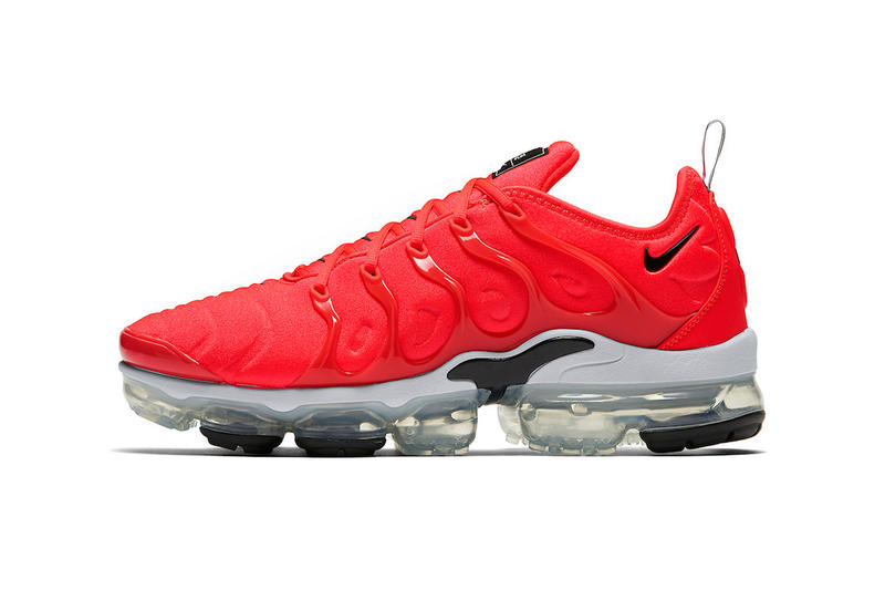 12b1264d410 Nike Air VaporMax Plus Bold Red 3M Reflective Swoosh Grey Black