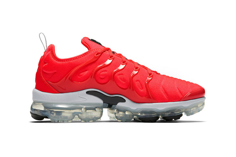 1c6ccf5718a64 Nike Air VaporMax Plus Bold Red 3M Reflective Swoosh Grey Black