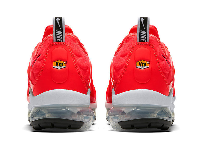Nike Air VaporMax Plus Bold Red 3M Reflective Swoosh Grey Black