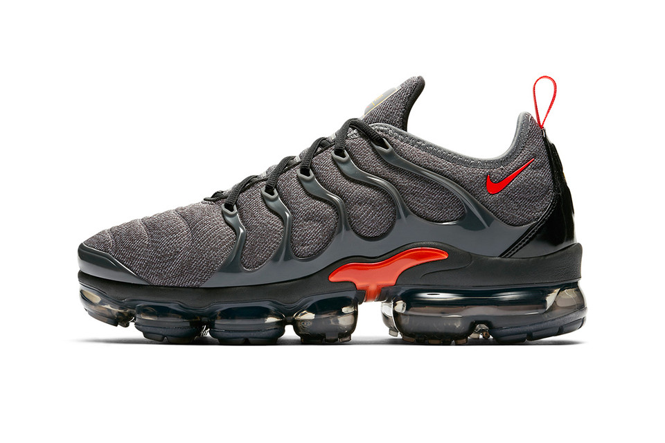 Nike Air VaporMax Plus Grey Red Makeover  fdc7f1b38