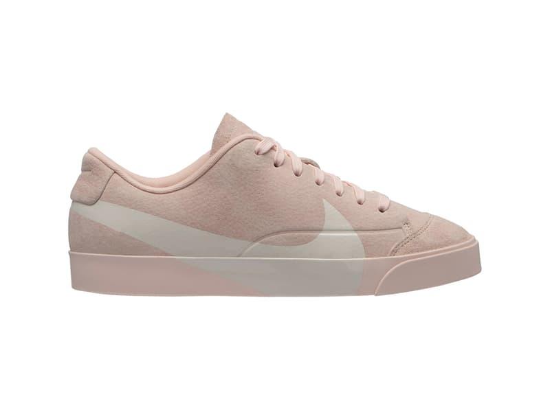 Nike Blazer Low Oversized Swoosh Grey Pink Teaser Big White Clay Green Dusty Pink